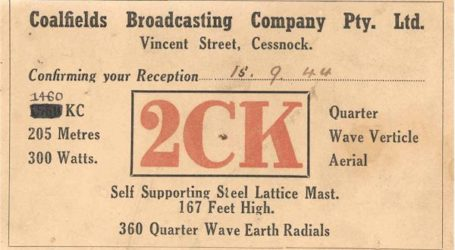 "2CK Cessnock ""The Voice of the Coalfields"""