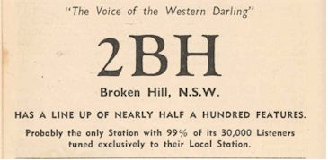 "2BH Broken Hill – ""The Voice of the Western Darling"""