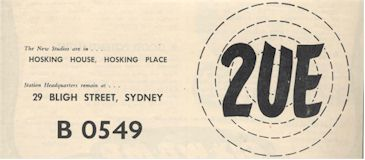 Memories of 2UE Sydney