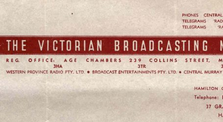 Victorian Broadcasting Network 3HA Covers Western Victoria