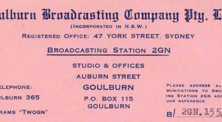 Broadcasting Station 2GN Goulburn