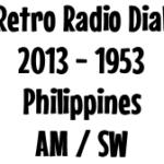 Retro Radio Dial: 1953 Philippines AM/SW Radio