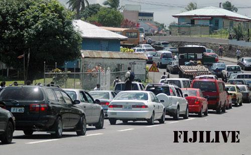 Traffic jam in Suva © www.fijilive.com