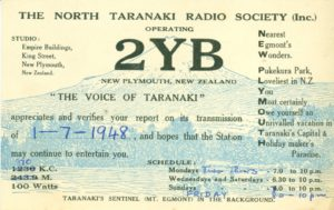 2YB New Plymouth NZ. 1948 © Cleve Costello Collection, Radio Heritage Foundation