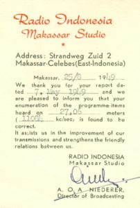 Radio Indonesia, Makassar, Dutch East Indies. 1949 © Cleve Costello Collection, Radio Heritage Foundation