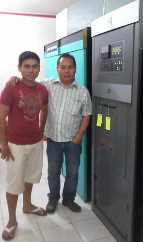Mr. Marvin Villanueva, Broadcast Technician for Bombo Radyo DZLG, and Engr. Mon Bañez, Head Engineer of Broadcast World Philippines with the Nautel XR12.