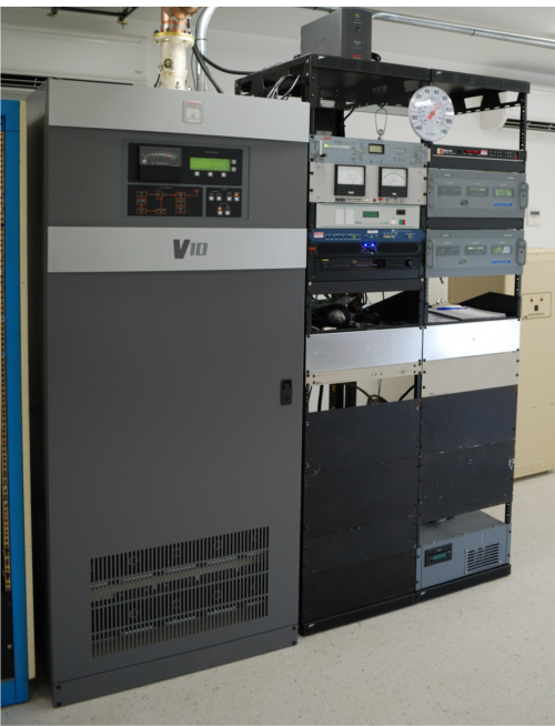 The Nautel V10 transmitter in Oahu which was wired up and tested in less than a day!
