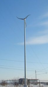 Wind turbine at 100.7 The Island