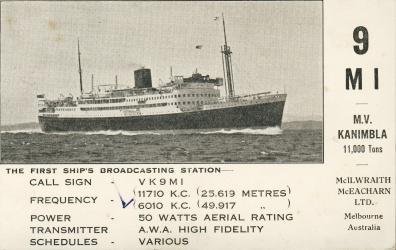 VK9MI – Ship Broadcaster