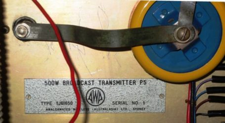 History Preserved AWA Broadcast 500W Transmitter Model P5 Serial Number 1