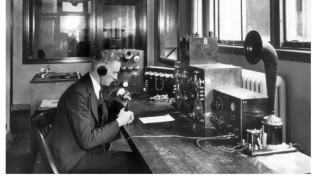 Radio Station Studios in the 1920s