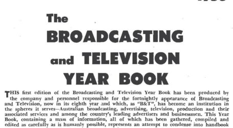 "Australian ""Broadcasting and Television Year Book"" 1958"